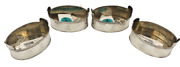 Rundell And Bridge Gilt Sterling Silver 4 Open Salts From 1821 By Royal Goldsmiths