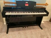 Gently Used Black Williams Overture 2 Digital Piano With 88 Keys And 3 Pedals