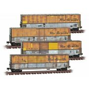 Micro-trains Mtl 993 05 850 Dandrgw Weathered 4 Pack 50and039 Standard Boxcars N Scale