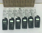 6 Kenwood Nx300 Nx-300 Nexedge Uhf 450-520 512 Ch W/ 6 Unit Charger And Batteries