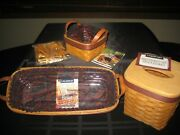 Longaberger Fathers Day Baskets 1994 Tissue,1997 Personal Organizer,1999 Tee New