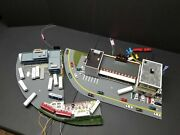 Custom Kato N Scale Bus Stop For Railroad With Food Truck With A Lot Of Feature