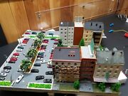 Custom Kato N Square Scale City For Railroad Layout With A Lot Of Feature