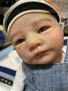 Used Tina Kewy Jamie Reborn Doll Clear Eeyes Child 53cm Engraved On The Neck