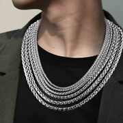 High Quality Brand New Silver Stainless Steel Chain Necklace Limited Quantity