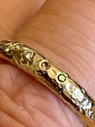 Posh Totty Textured Confetti 18ct Gold Plated Ring Size S