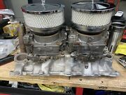 Corvette Dual Quad Intake With Carbs Early Casting 1956
