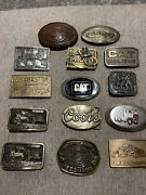 Lot Of 15. Vintage And New And Rare Belt Buckles Winchester, Cat, Coors