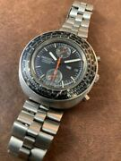 Seiko 6138-7000 Chronograph Vintage Overhaul Automatic Mens Watch Auth Works