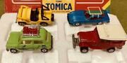 Mini Car Tomica Set Of 4 Leisure Vehicle Japanese Toy Yellow Blue Red Green