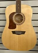 Washburn Heritage 10 Series Left-handed Acoustic Guitar Natural Hd10 Roc025461