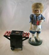 Zimand039s Heirloom Collectibles Large Bbq Grill Smoker Wooden Nutcracker Rare