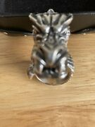 King Baby Studio Sterling Silver Dragon Ring Rare Heavy 98 Grams Size 10 1/2