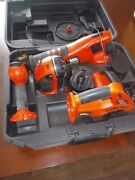 Black And Decker 7 Pcs Cordless Power Tool Set Drill Saw Light Charger Batteries