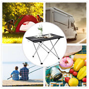 Aluminum Portable Folding Camping Picnic Table Outdoor Lightweight Bench Party