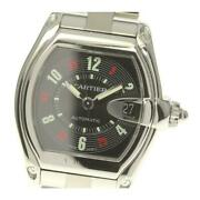 Roadster Lm W62002v3 Automatic Menand039s Black Dial Ss From Japan [e0526]
