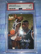 1995 Flair Shaquille Oneal 97 Psa 9 Mint Hof 4 Rings Magic Lakers Heat
