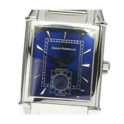Girard-perregaux Vintage 2594 Automatic Menand039s Blue Dial From Japan [e0526]