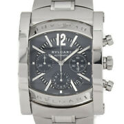 △ Bvlgari Assioma Chronograph Aa48sch Navy Dial Automatic Menand039s Watch O99418