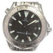 Omega Seamaster 300 Americaand039s Cup 2533.50 Wg Bezel Automatic Menand039s Black [e0526]