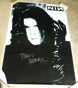 Trent Reznor - Hand Signed Huge Subway Poster Giant Signature Nine Inch Nails