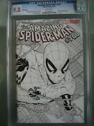 Amazing Spider-man 700 Sketch Cover Cgc 9.8 Wp 2013 Death Of Peter Parker