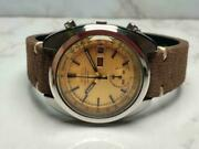 Seiko 6139-6012 Vintage Chronograph Day Date Automatic Mens Watch Auth Works
