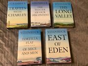 John Steinbeck Book Of The Month Club 5 Book Lot 1995 Hc Of Mice And Men