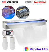 18color Led Swimming Pool Waterfall Fountain Stainless Steel Garden Cascade Pond
