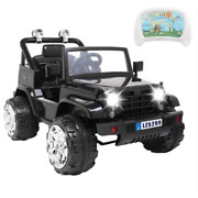 Toy Rc Car 12v Ride-on Cars Kid W/remote Electric Jeep Dual Drive Battery 12v7ah