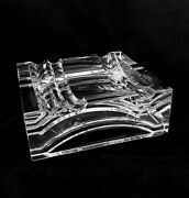 Vintage Baccarat France Modernist Heavy Crystal Ashtray 4.5 Inches