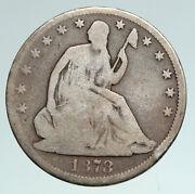 1878 P Usa Eagle And Seated Liberty Orleans Antique Silver Half Dollar Coin I90951