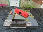 Desktop-sized Ho Scale Model Railroad Diorama With Cars Landscaping People