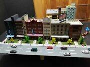 Custom Kato N Scale City Layout For Railroad With A Lot Of Feature