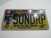 Alabama First To The Moon License Plate Tag Nasa Saturn V 5 Sundrop Personalized