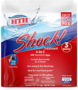 Hth 52026 Super Shock Treatment Swimming Pool Chlorine Cleaner 1 Lb Pack Of 12