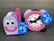 Vintage Eden Blues Clues Tickety Tock Clock And Mailbox Plush Soft Toy New W/ Tags