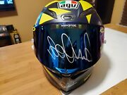 Valentino Rossi Hand Signed Full Size Agv 2018 Sole Luna Helmet Comes With Coa