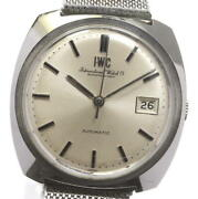 Schaffhausen Date Antique Automatic Stainless Silver Dial Menand039s Watch U0527