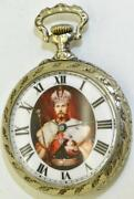 Rare Imperial Russian Army Officerand039s Award Lecoultre Caliber Pocket Watch C1900s