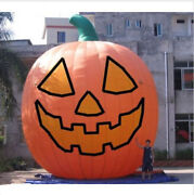 26ft Inflatable Pumpkin Halloween Jack O Lantern Holiday With Blower T