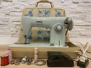 Vintage Brother Project 1361 Sewing Machine,teal With Case Plus Extras Works