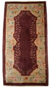 Handmade Antique Art Deco Chinese Rug 2.2and039 X 3.11and039 67cm X 121cm 1920 - 1b397