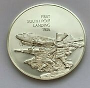 1977 History Of Flight Sterling Silver 1956 First South Pole Landing Medal