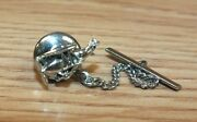 Genuine Swank Silver Tone Vintage Airplane Collectible Lapel Tie Tac Pin