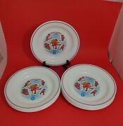 """Winter Olympics 1984 Campbell's Kids Soup Plate Bowl 8 1/2"""" Set Of 12 Vintage"""