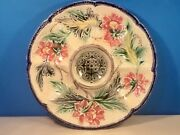 Oyster Plate Antique Majolica Oyster Plate With Cracker Well 1890-1900