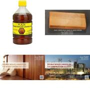 Plaza Double Boiled Linseed Oil 500 Ml Pack Used For Wood Finishing On Walls Be