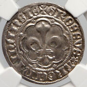1400 Ad France Strasbourg Bishopric Silver French Gros Medieval Coin Ngc I90646