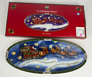 Portmeirion Studio A Christmas Story Oval Yule Log Platter By Susan Winget